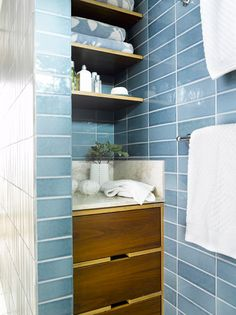 Glass Water Napier Tile for accent @thetileshop | Glass Tile ...