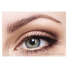 Natural slightly winged eye makeup for grey eyes. Beauty Darling ❤ liked on Polyvore featuring beauty products, makeup and eye makeup