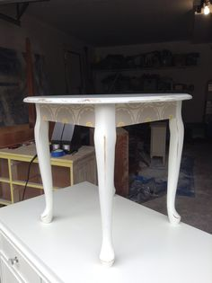 Little French provincial side table refinished and up for sale for 95