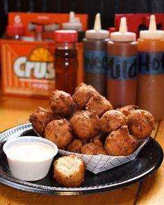 Okie Dokies Smokehouse's Jalapeno Hushpuppies & Red Slaw