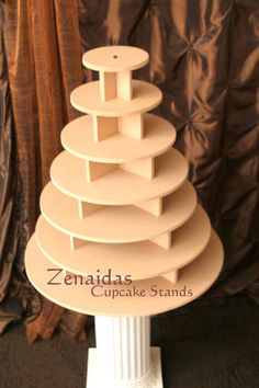 Cupcake Stand 7 Tier Round 200 Cupcakes Threaded Rod and Freestanding Style MDF Wood Cupcake Tower Birthday Stand Wedding Stand DIY Project by Zenaidas4urLilAngels on Etsy https://www.etsy.com/listing/157608820/cupcake-stand-7-tier-round-200-cupcakes