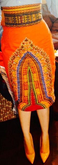 Dashiki Pencil Skirt - Tafari Tribe