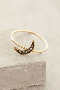 Workhorse Waxing Moon Pave Ring #anthrofave