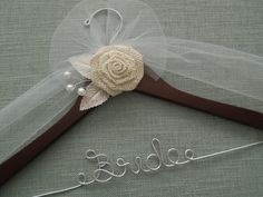 Wedding Dress Hanger Bridal Shower Gift Custom by DivineDays