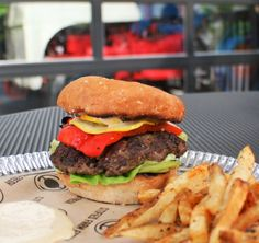 Chef Rob Ray's winning Mushroom State of Mind Burger at Belly Acres in Memphis.