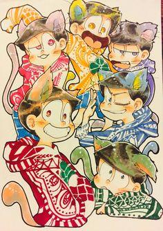 Osomatsu-san Gakuen Babysitters, Pen Illustration, Gekkan Shoujo Nozaki Kun, Laughing And Crying, Ichimatsu, Fun Comics, Fujoshi, Art Reference, Brother