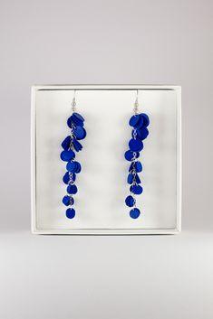 Reindeerleather earrings by Oikku Design Earrings, Blue, Jewelry, Design, Fashion, Ear Rings, Moda, Stud Earrings, Jewlery