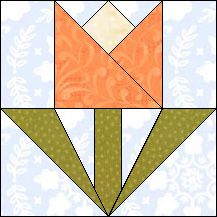 Block of Day for November 29, 2016 - Garden Tulip-foundation-paper piecing..The pattern may be downloaded until: Friday, December 9, 2016