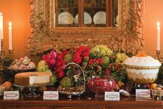 Holiday Buffet Victoria magazine - download link for name/food cards
