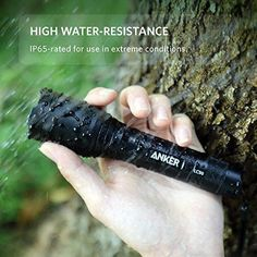 Premium Anker Black Outdoor Indoor CREE LED Tactical Ultra Bright Flashlight New #Anker