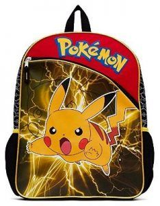 Rapture Anime Pokemon Nylon Backpack Pikachu Cosplay School Shoulder Bag Children Plush Backpack Costumes & Accessories Novelty & Special Use