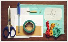 stitch a card or fabric project with your handwriting