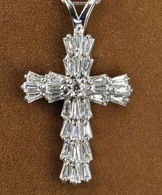 1 Carat Diamond Cross Pendant