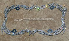 FANCY Swarovski Crystal BLING License Plate Frame by IcyCouture