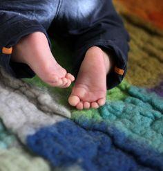 Felted Carpet For Childern Room - Wet Felt from FeltArtByMariana by DaWanda.com
