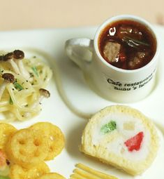 *ベーグルプレートランチ仕上げ* - *Nunu's HouseのミニチュアBlog*           1/12サイズのミニチュアの食べ物、雑貨などの制作blogです。