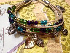 Boho natural string bracelet by BeadDazzlers on Etsy, $21.00