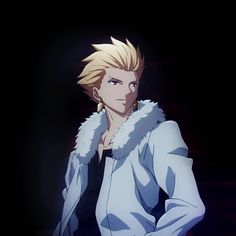 Gilgamesh (I'm assuming Kirei is holding up a fan for this loop.)