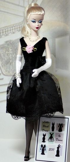 2011 - Barbie (here, a Silkstone) Fashions -  Little Black Dress by Donna