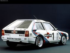 Lancia Delta S4 Group B. Everything looks better with Martini racing stripes. Almost.