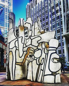 Loved bumping into sculptures in #Chicago! This one was the Monument with Standing Beast - Dubuffet sculpture in Chicago, IL  #Travel #USA #Illinois #JeanDubuffet #TravelDiaries #TravelAwesome #bestvacations #beautifuldestinations #Holiday #Vacation