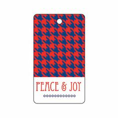 Peace and Joy Houndstooth Gift Tag | MyRecipes.com