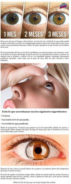 Cómo aclarar el iris de tus ojos - Taringa! Natural Beauty Tips, Diy Beauty, Beauty Makeup, Beauty Hacks, Face Care, Body Care, Skin Care, Healthy Tips, Healthy Skin