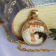 #Mother and Child #Pendant Necklace Gustav by #LiteraryArtPrints
