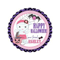 Happy Halloween Customized Printable Tags-Cute Mummy Girl-Pumpkin-Spider Theme-Halloween Thank you Tag- DIY Personalized Stickers Personalized Stickers, Diy Stickers, Halloween Tags, Happy Halloween, Diy Party, Party Favors, Thank You Tags, Sticker Paper, Party Printables