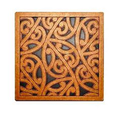 This lovely art piece catches the cultural diversity of New Zealand and it's native people - the Maori Maori Designs, Maori Patterns, Tile Patterns, Maori Symbols, Kunst Der Aborigines, Maori People, Polynesian Art, New Zealand Art, Nz Art