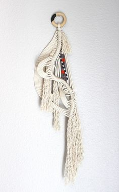 "Wall Hanging ""The Pond no.19""  One of a kind Handcrafted Macrame/Rope art"