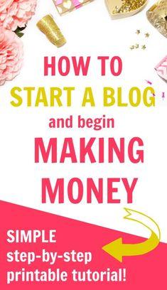 start a blog being making money