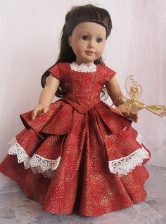 18 Doll Dress Pumpkin and Gold Bella Rose Ball Gown by HannahReeseDD on etsy American Doll Clothes, Ag Doll Clothes, Doll Clothes Patterns, Doll Patterns, Clothing Patterns, Dress Patterns, Barbie, Hommes Sexy, Pretty Dolls