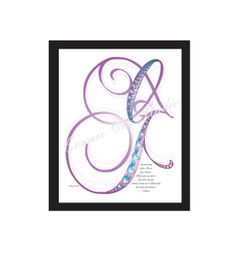 Instant Digital Download Love Lines Letter L O by ConnieCoxStudio