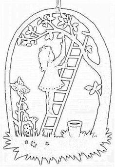Girl on ladder
