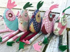 Cute chickens from scraps of fabric