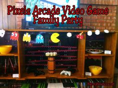 Celebrate fun family time with this old fashioned arcade based video game party. All the printables, desserts, decorations, and ideas are included to help you throw your own fun family party based on the old fashioned video games. #PaparazziGamesOnline #FamilyGamesOnline Video Game Decor, Video Game Party, Video Game Rooms, Party Games, Video Games, Family Games Online, Online Games, Star Citizen, Phonics Games Online