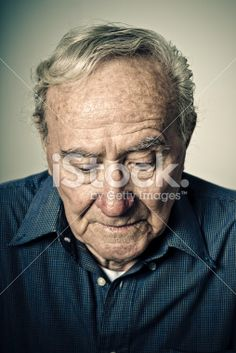 sad old senior man Royalty Free Stock Photo