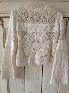 Crochet Lace Blouse _ Inspiration                                                                                                                                                                                 Más
