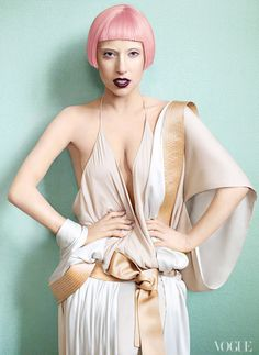 In 2011, Tonne Goodman dressed Lady Gaga in a pink wig for the cover of the March issue, shot by Mario Testino.