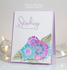 Love this design by Caryn for the Simon Says Stamp Wednesday challenge using the Spectrum Noir Aqua Markers