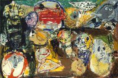Asger Jorn (Danish 1914–1973) Letter to my Son (Lettre à mon fils), 1956-7. Oil on canvas, 130.0 x 195.5 cm. Tate.