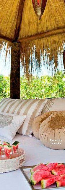 Tropical living. home accents, custom bedding and draperies online DesignNashville.com free shipping through Saturday Island Girl, Island Beach, Tropical Houses, Tropical Paradise, Tropical Flowers, Tropical Style, Seasons Of Life, Paradise Island, Island Resort