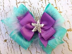 Ariel Hairbow Little Mermaid Disney Princess by TheLoopsyDaisy