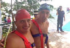 Marcos Velázquez y Mariano Mingo Listos para 1,250 mts Aguas Abiertas Bacalar 2013