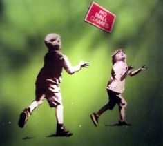 size: Giclee Print: No Ball Games by Banksy : This exceptional art print was made using a sophisticated giclée printing process, which deliver pure, rich color and remarkable detail. Banksy Work, Banksy Graffiti, Banksy Images, Banksy Prints, English Artists, Large Painting, Design Museum, Frames On Wall, Online Art