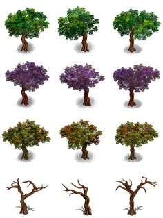 RPG Maker Trees by Ayene-chan.deviantart.com on @deviantART