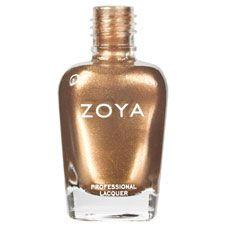 Zoya Nail Polish in Richelle - A golden bronze shimmer with a bold metallic finish
