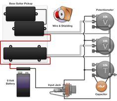 Guitar Wiring Diagram 2 Humbuckers/3Way Toggle Switch/1