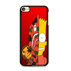 Bape Bart Simpson With Monkey For Ipod Touch 6 Case